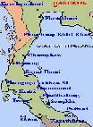 Map of Southern Thailand
